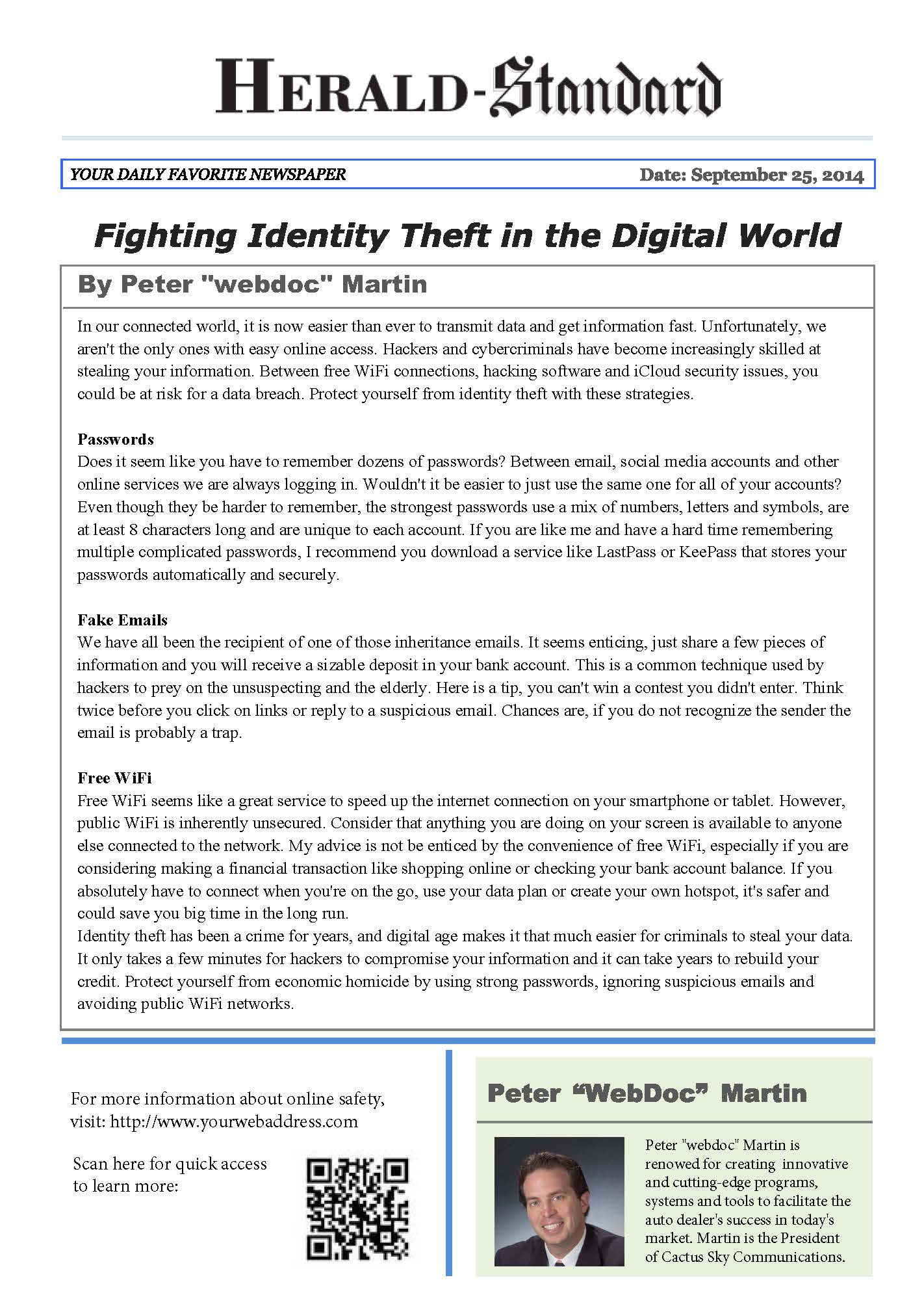 Identity Theft Article